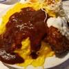 【男のオムライス EGG BOMB @新橋】600gまで同一料金で注文可能なオムライス!!量だけでなく、味もおいしい!!
