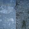 コンクリート土間の固まる前踏み跡補修美装