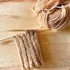【編み物時間1回目】Grandir(グランディール)で手編みのくつ下作成中