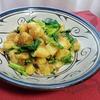 【インド料理レシピ】ジャガイモとなばなのスパイス炒め ~ 芋&葉野菜は定番ですな