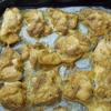 油で揚げずに鶏の唐揚げ風。オーブンで鶏を焼いている間に野菜料理を3品。