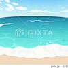 透明感のある海と空の背景1[魚眼]