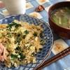 玉子チャーハンと焼き豆腐?