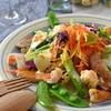 春野菜と鶏とエビのごちそうサラダ #サラダグラブ