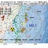 2017年09月20日 04時21分 宮城県沖でM3.1の地震