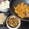 豚バラ大根、ごぼう唐揚げ、白菜漬け、糸こん炒め煮