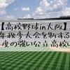 【高校野球in大阪】2019年秋季大会を制するのは?また、今年度の強い公立高校は?