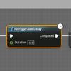 「Retriggerable Delay」で、もう1回ボタンを押したらDelayの待ち時間をリセット