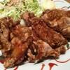 鶏もも一枚揚げ定食(にんにく醤油) at ごはん処やよい軒_巣鴨南口店