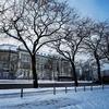 雪のハンブルク