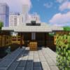 水辺の小さな神社【Minecraft】