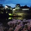 夜の福岡城と朝の小倉城
