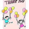 THANK YOU!!   ありがとうのイラスト描きました。