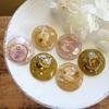 【UVレジン作り方】くすみカラーのイヤリングの作り方