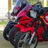 赤いバイク軍団でうどん屋巡りプチツー