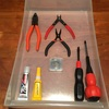 工具の収納ーリビング・ダイニングの収納棚③