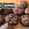 アメリカンダブルチョコレートクランベリークッキーのレシピ。有塩バターでOK、バレンタインにも