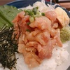 三軒茶屋の海街丼にて鮪と白身魚の漬け丼を。