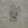 「スカーフを巻いたウサギ」 描いたヨ!