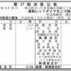 浦和レッドダイヤモンズ株式会社 第27期決算公告