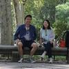 ホテルの前の公園でのんびりエンパナーダモーニング/スペイン・マドリード旅行記