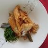 <魚のアラ炊き>サラダ油を入れて炊くのがコツ。照りが出て最高よ(^^♪