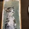 再び猫ちゃんをダンボール紙に描きました。