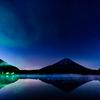 精進湖で一年ぶりの日の出撮影!!晩秋の夜空の星も綺麗でしたっ (^^♪