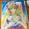 水彩絵の具を使うのが久しぶりだから、、イラストをまず描いてみたら