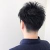 営業職の人は黒髪でも束感の出るツーブロックショートがオススメ☆