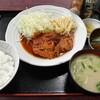 西川口の「あおき食堂」で鶏肉のトマト煮定食を食べました★