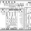 アシックスジャパン株式会社 第6期決算公告