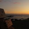 松前町 白神岬展望広場にて眺めた夕日
