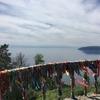 ロシア-バイカル湖 湖を一望できる展望台に登ってみた。