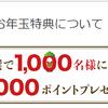 楽天カードがお年玉特典で1000名様に10000ポイント進呈!新規入会がお得!2020年1月6日まで!