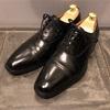 スコッチグレインインペリアルブラックⅡを鏡面磨き メンズ革靴