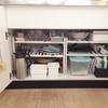 【キッチン掃除】シンク下の収納。取り出しやすく、整理整頓