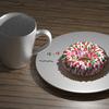 Blenderでドーナツ作り(7) スプリンクルの精度向上