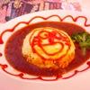 二人のグルメ+α(2):卵の生地の旨いオムライスとさっぱりして美味しいチーズケーキ(メイド喫茶ハートオブハ△ツ:秋葉原)
