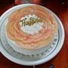 桃のショートケーキとコッペパン