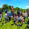 【日記】2016年7月30日(土)「青空と緑な多摩川河川敷での「チャンバラ合戦-戦 IKUSA-×こすぎの大学」」