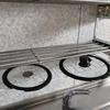 ダイソーのワイヤーネットで鍋の蓋も吊るせた