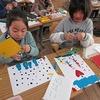 2年生:図工 紙版画の版を作る