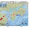 2016年09月19日 15時52分 高知県西部でM3.6の地震