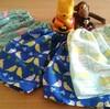 【手作り子ども服】 セリア手ぬぐい108円で手縫い30分で作るステテコパンツ