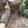 和室前の石畳作り