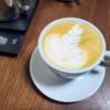 マシンもスチーマーもなし。エアロプレスでエスプレッソ風コーヒーが意外と美味しいかったのでラテアートしてみる