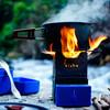 熱電発電機を搭載した、超コンパクトな防水ミニキャンプストーブ「PureFlame」