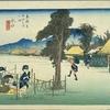 東海道五十三次 五十の宿 近江国甲賀郡 水口宿 夕つ顔ほすおみなこや よく聞かね
