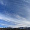 木曽の新滝、八ヶ岳の山並みと空を撮影しました